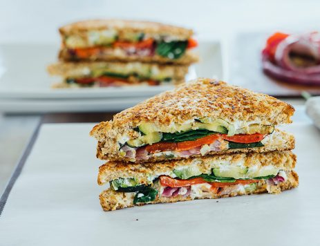 Veggie Grilled Cheese Sandwich