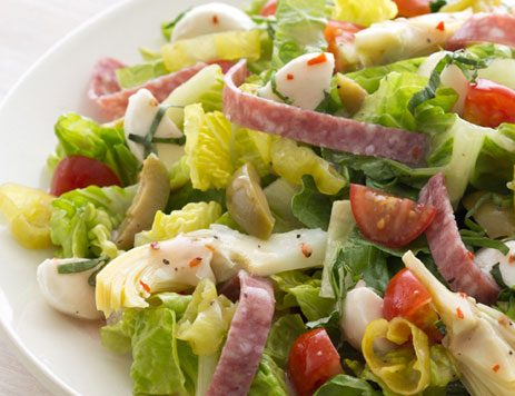 Antipasto Salad with Italian Dressing