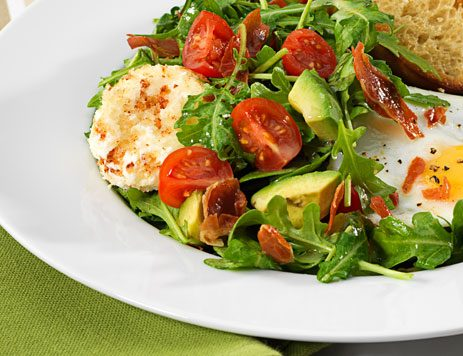 Arugula, Pancetta and Goat Cheese Brunch Salad