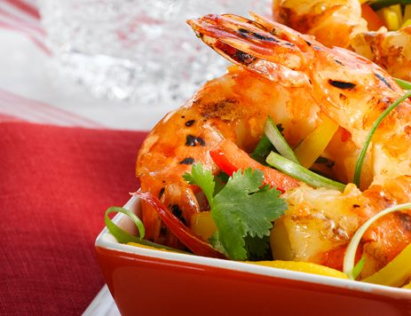 Asian Shrimp With Mango Pepper Salad