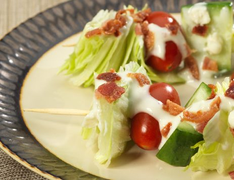 Bacon Blue Cheese Salad Skewers