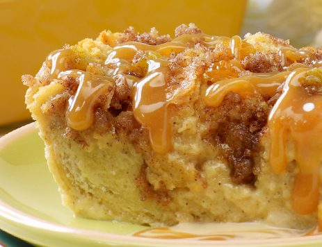 Caramel Bread Pudding With Creamy Caramel Sauce