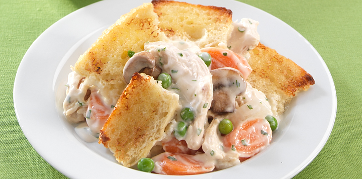 Chicken pot pie with bread topping whats for dinner chicken pot pie with bread topping forumfinder Image collections