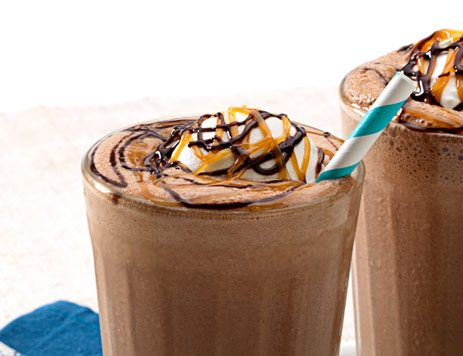 Chocolate Salty Caramel Milk Shake