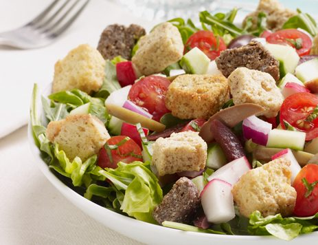 Chopped Italian Salad With Asiago Cheese Croutons Recipe