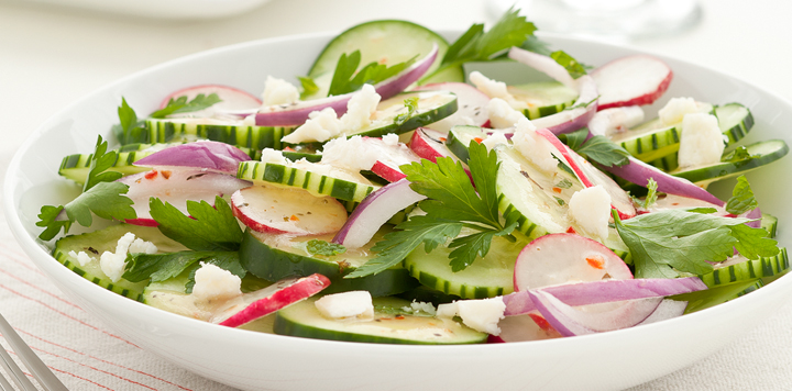 Crunchy Cucumber and Onion Salad | What's for Dinner?