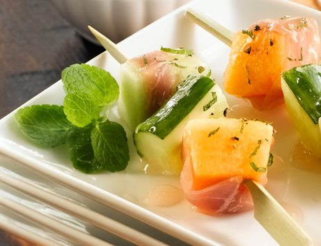 Cucumber and Melon Skewers Recipe