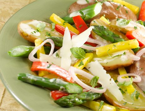 Fingerling Potatoes With Asparagus and Beets