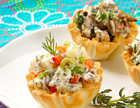 French Onion Mushroom Tarts Recipe