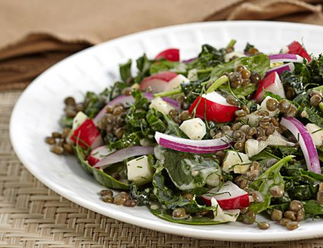 Garlic Lemon Lentil Salad