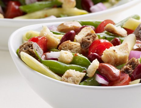 Green Bean Salad With Caesar Croutons