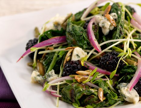Grilled Kale Salad With Blue Cheese