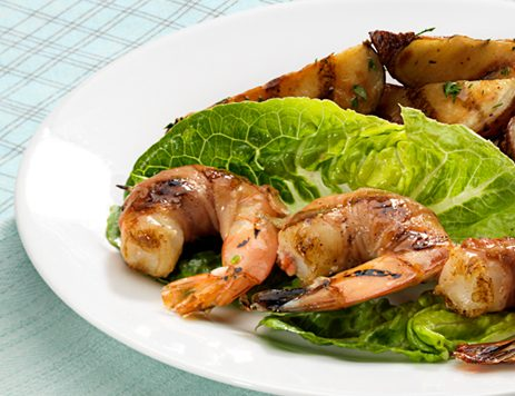 Grilled Shrimp Wrapped in Prosciutto