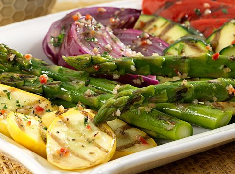 Grilled Vegetables with Fresh Herbs and Parmesan Recipe