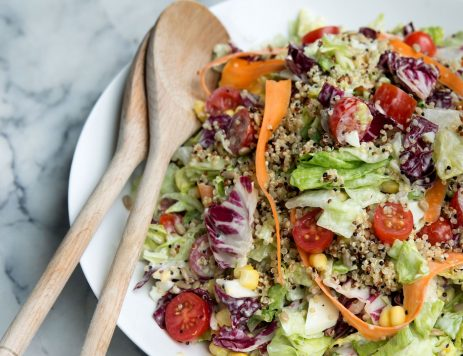 Chopped Romaine and Quinoa Salad
