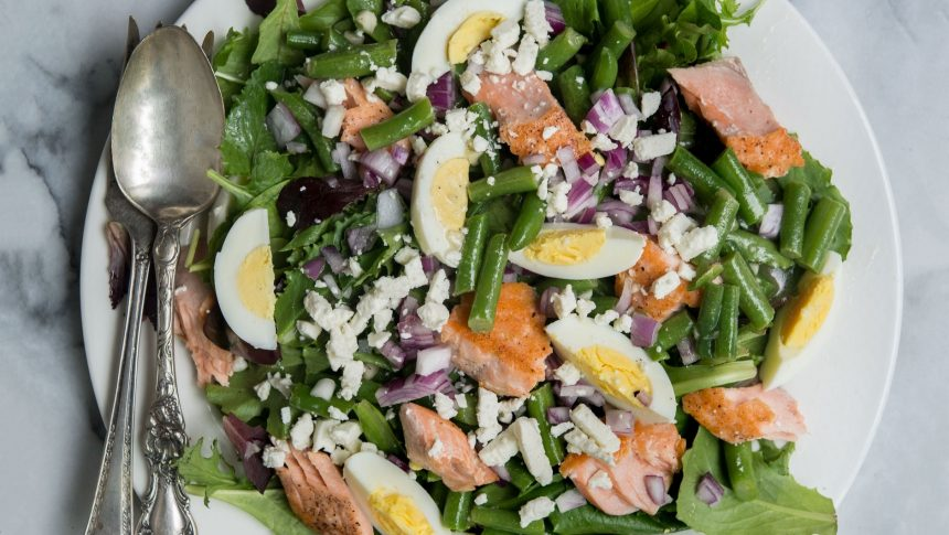 Green Bean Salmon Salad