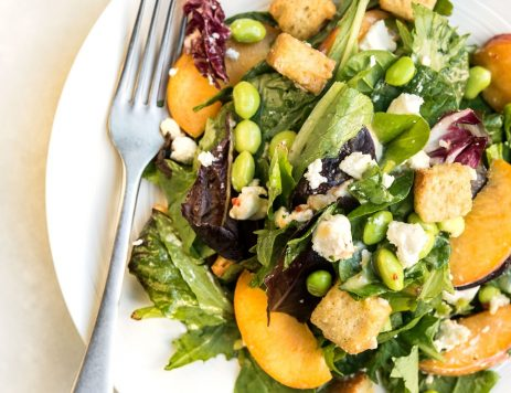 Mixed Green Salad With Honey Butter Croutons
