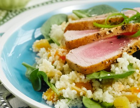 Marinated Grilled Tuna Steaks With Couscous