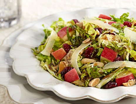 Mixed Greens with Shaved Brussels Sprouts Recipe
