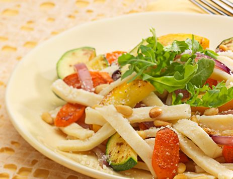 Noodles with Roasted Fall Vegetables