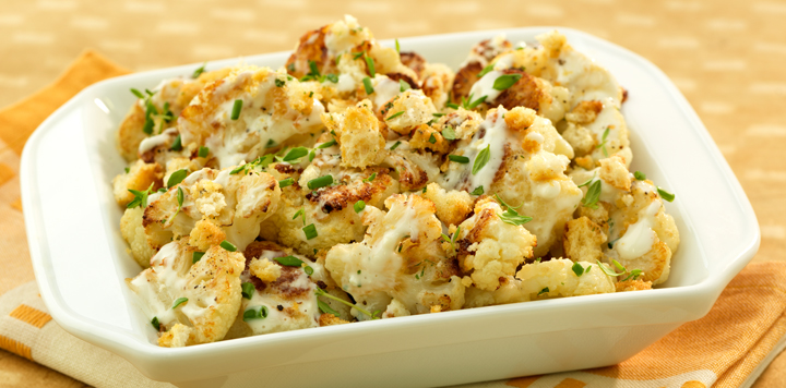 Oven Roasted Cauliflower with Crunchy Topping   What's for ...