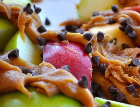 Peanut Butter Caramel Apple Nachos