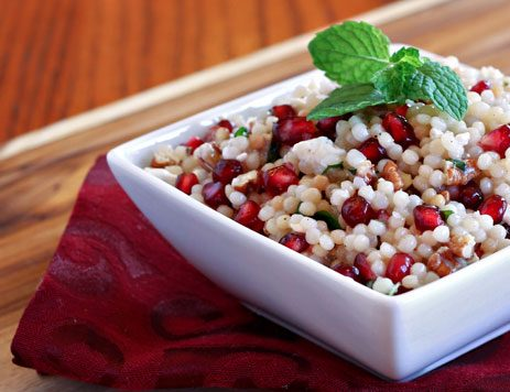 Feta Pomegranate and Couscous Salad with Mint