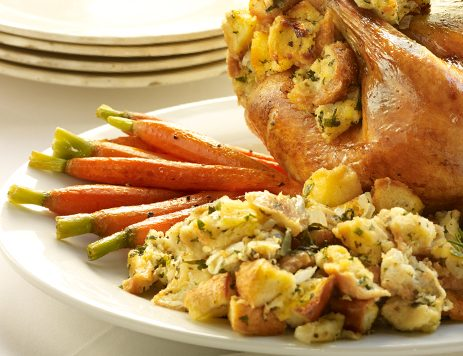 Roasted Chicken With Garlic Lemon Stuffing Recipe