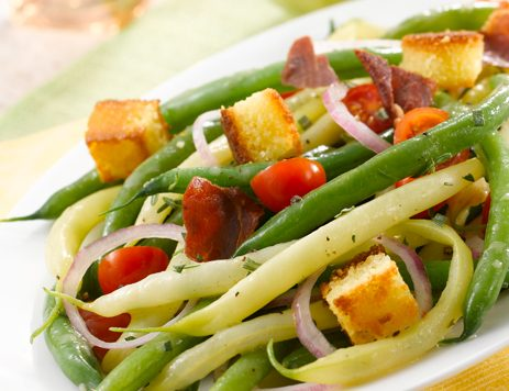 Roasted Green and Yellow Bean Salad