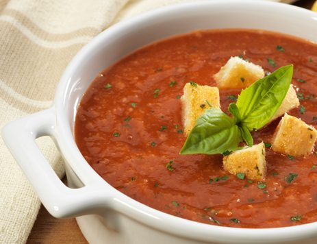 Roasted Tomato Basil Bread Soup