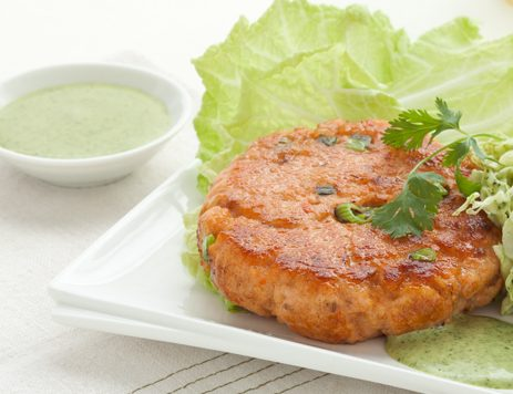 Salmon Cakes With Green Sauce