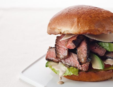 Steak Caesar Sandwiches With Tomato and Avocado