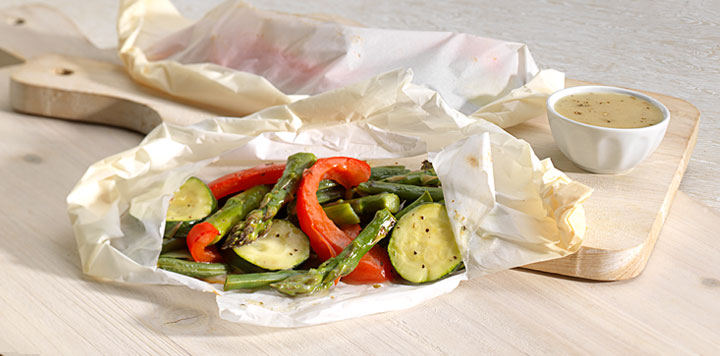 Steamed Vegetable Pouches Recipe