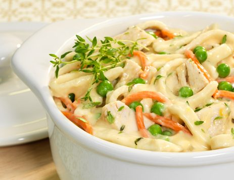Three Cheese Turkey and Noodles Recipe