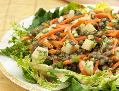 Warm Balsamic Lentil Salad