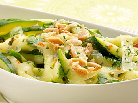Warm Zucchini Salad with Champagne Dressing