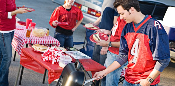 Tailgating before football