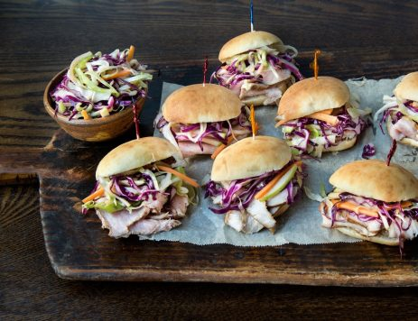 Pork Tenderloin Sliders With Slaw