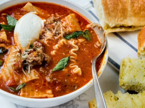 Lasagna Soup With Ground Beef