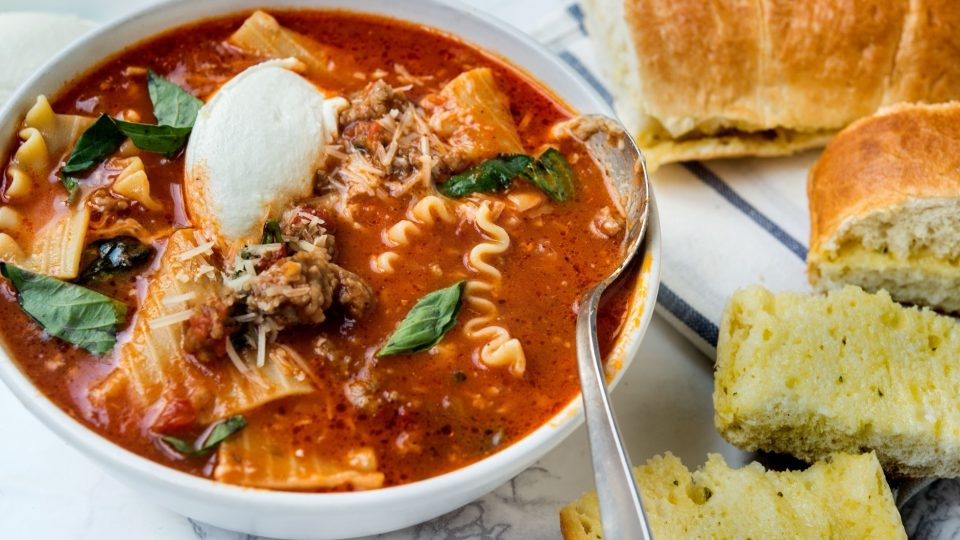 lasagna soup with ground beef recipe what s for dinner