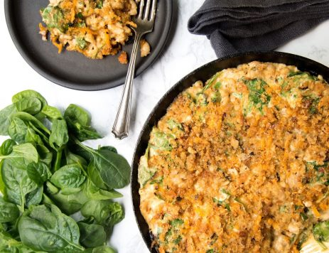 Loaded Mac and Cheese With Spinach