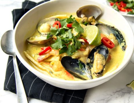 Seafood Laksa With Coconut
