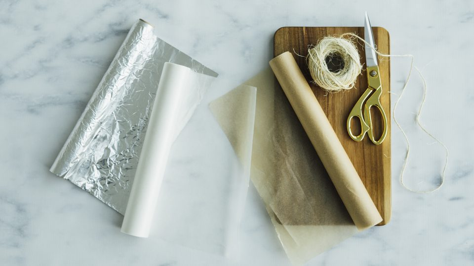 parchment paper vs. wax paper vs. aluminum foil - when to use each
