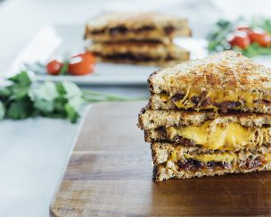 Grilled Cheese with Homemade Bacon Jam