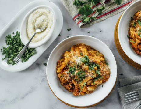 Slow-Cooker Egg Noodle Lasagna