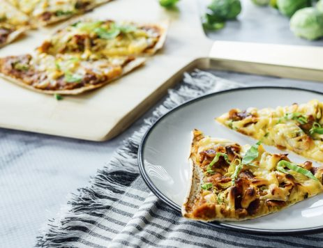 Spicy Pumpkin, Brussels Sprouts & Bacon Pizza