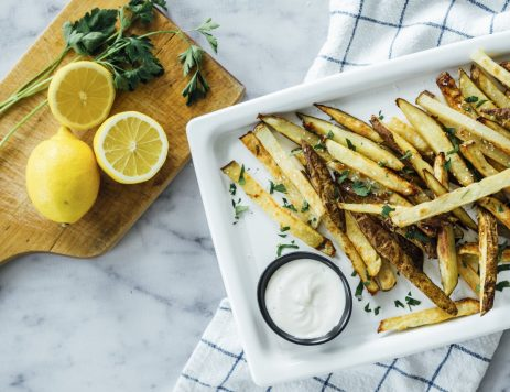 Oven-Baked French Fries with Aioli Dip
