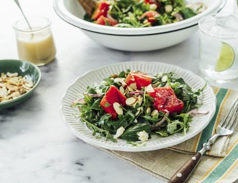 Grilled Watermelon Salad with Champagne Vinaigrette